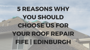 5 Reasons Why You Should Choose Us For Your Roof Repairs