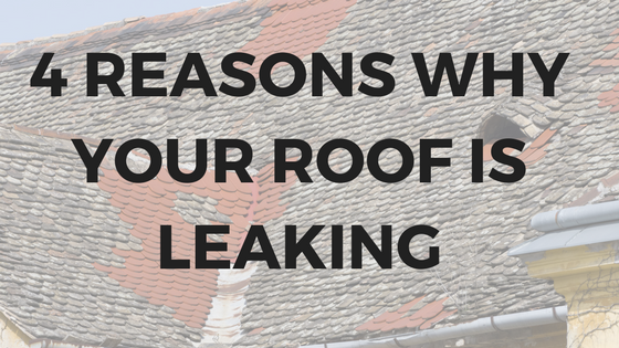 4 Reasons Why Your Roof Is Leaking