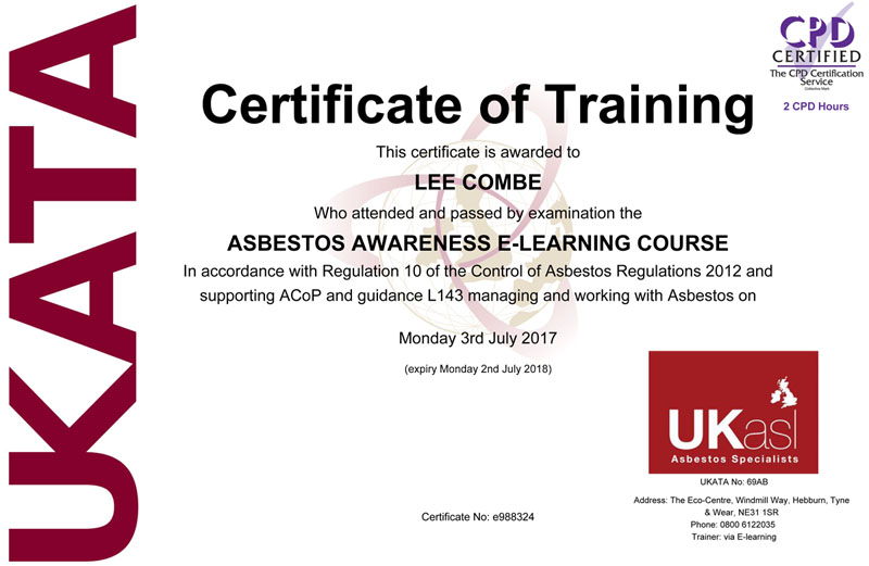 Qualifications and Membership - LC Joinery, Roofing & Building Work
