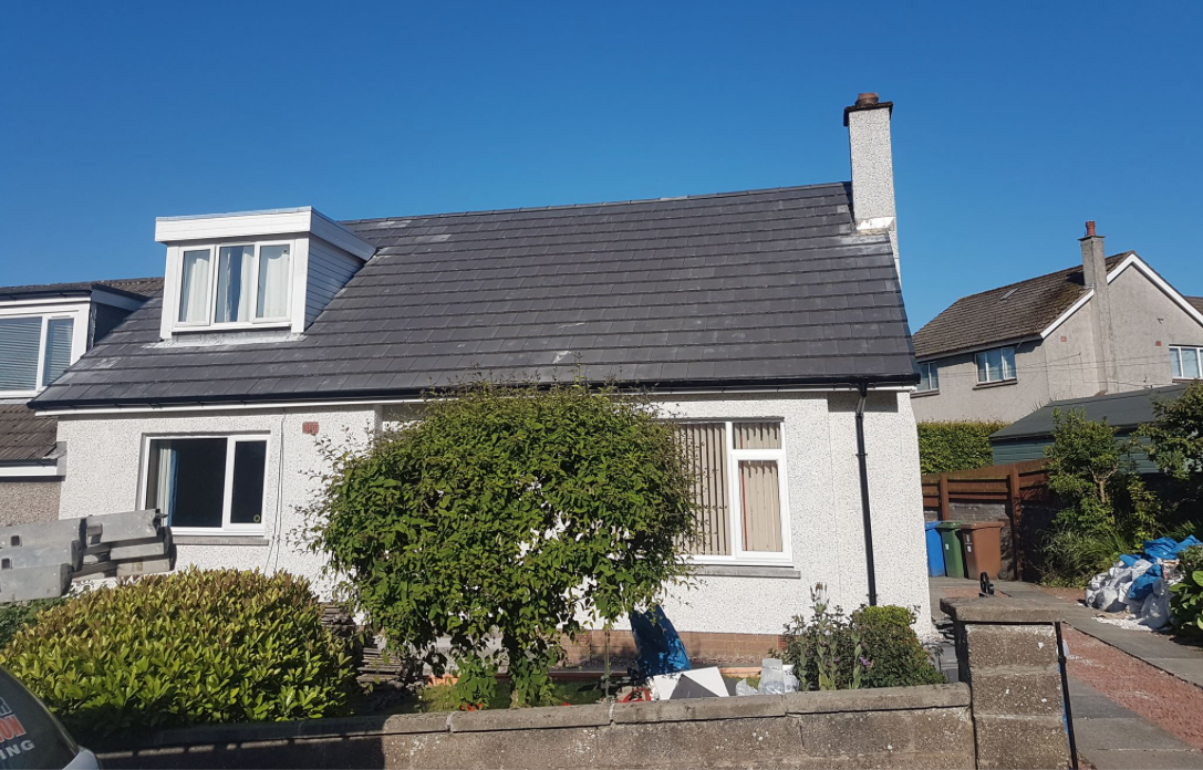 Roof And Roughcast Work In Falkirk New Roof And Roughcast